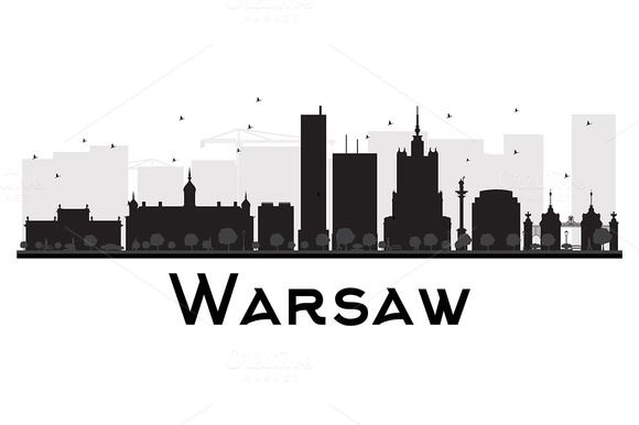 #Warsaw #City #skyline #silhouette by Igor Sorokin on @creativemarket