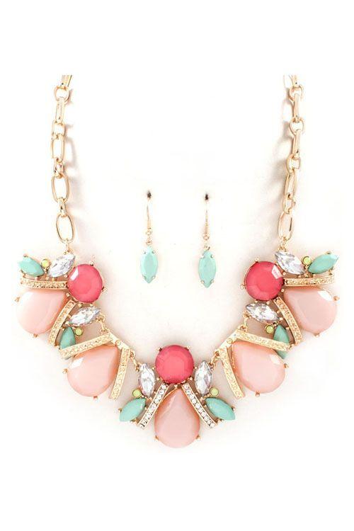 Maya Necklace in Blush