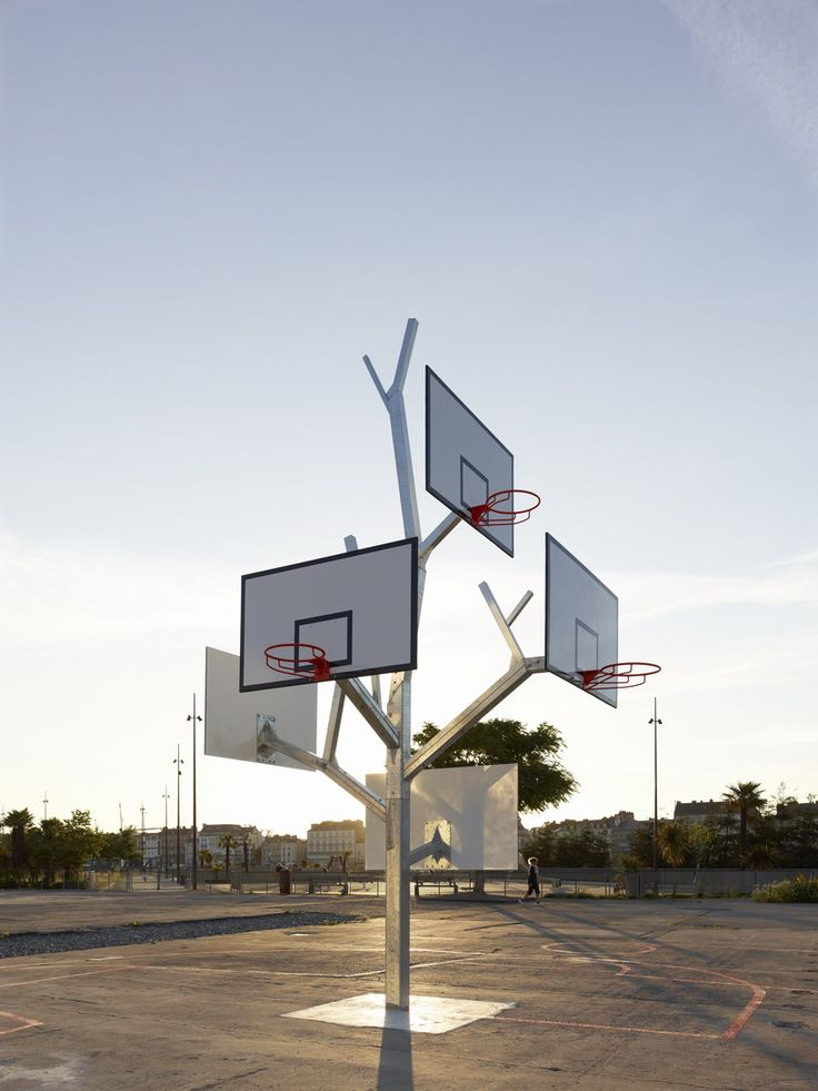 This isn't a diy basketball hoop but it certainly is note worthy. Pretty darn cool.