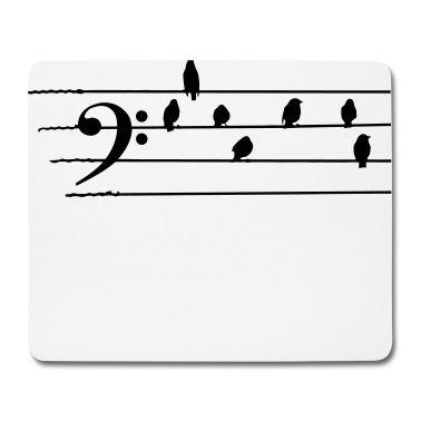 Mouse pad con Musica - Bass Clef - uccelli come note - Mouse pad, creazione di Quentin1984. Disponibile in diverse taglie: ordina questo prodotto adesso su Spreadshirt!