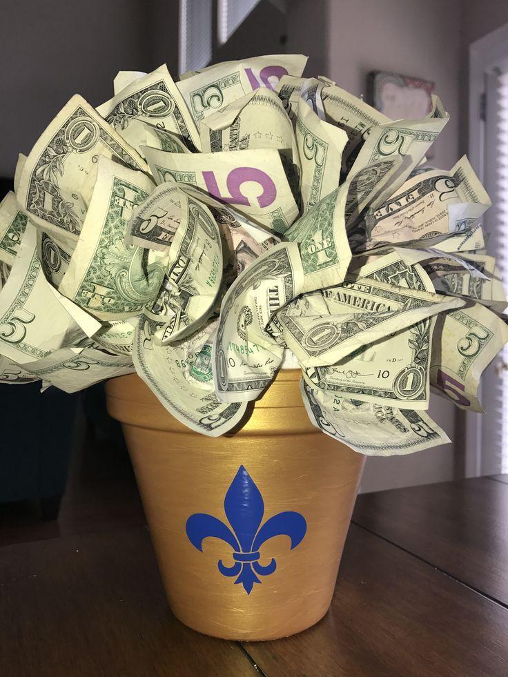 Money plant for teacher gift with school logo – Money Plants