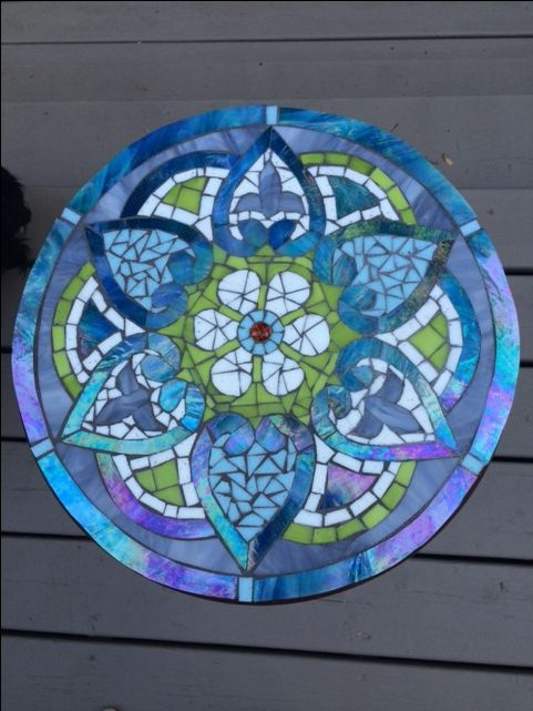 Mosaic table top by Laura Sinkins Mosaics