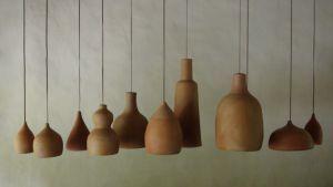 lamparas de barro