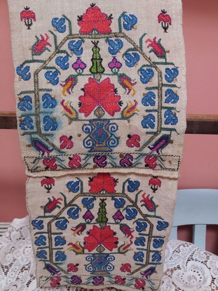 Antique TOWEL RUNNER Metallic EMBROIDERY Turkish OTTOMAN TEMPLE SHRINE LINEN in Antiques, Linens & Textiles (Pre-1930), Embroidery | eBay