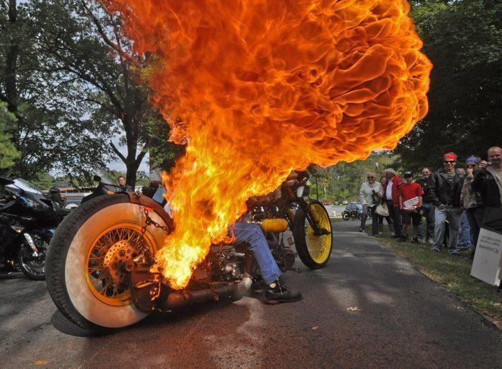 Ratty fire breathing bike