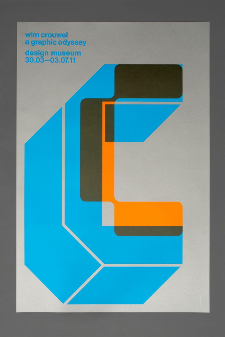 Flyer Goodness: Wim Crouwel Tribute Posters by Spin (London)