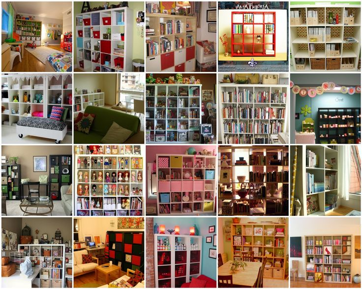 Ikea Expedit. Great ideas for things to do with my giant Expedit bookcase.