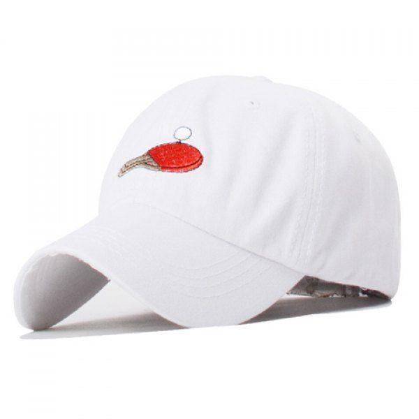 Trendy Table Tennis and Racket Embroidery Solid Color Baseball Hat For Women #jewelry, #women, #men, #hats, #watches, #belts, #fashion