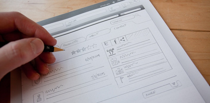 sketchpad for UI/website sketches