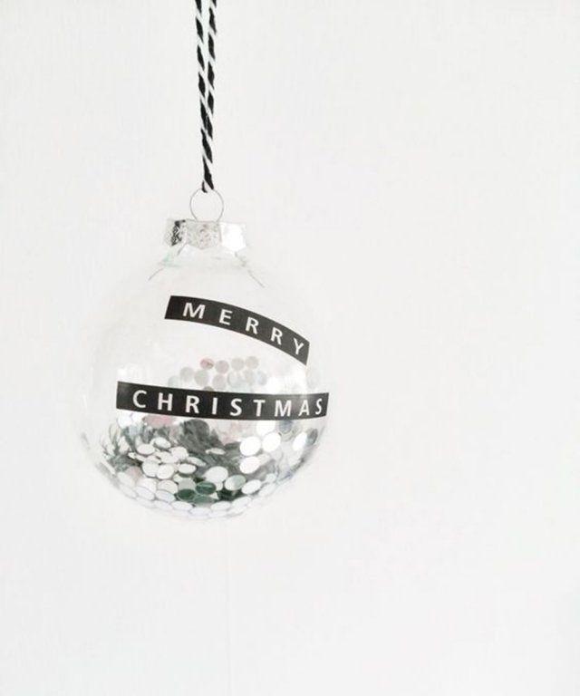 Une boule de Noël à message / diy boule de noel transparente