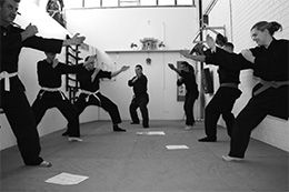 At SA Bujinkan Ninjutsu we teach the art of Shinken Taijutsu (Personal Protective Measures) to provide effective and extensive personal defence training program. The training program provides complete solution to overcome modern day weapons and risky situations that life has to offer.