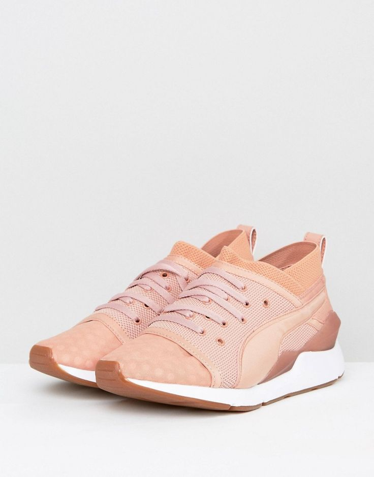 Puma Pearl Lace Up Sneakers In Pink - Pink