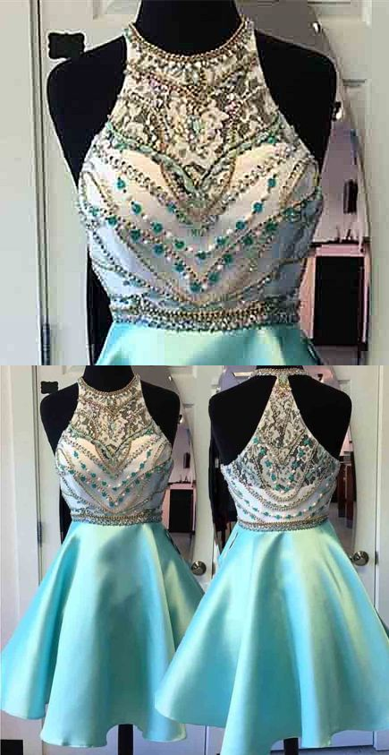 Short Dresses,Mint Green Dresses,Homecoming Dresses,Beading Dresses