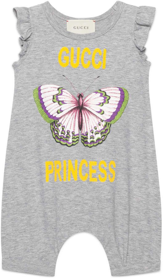 6bba17226ca063 Gucci Baby flock Princess print sleepsuit