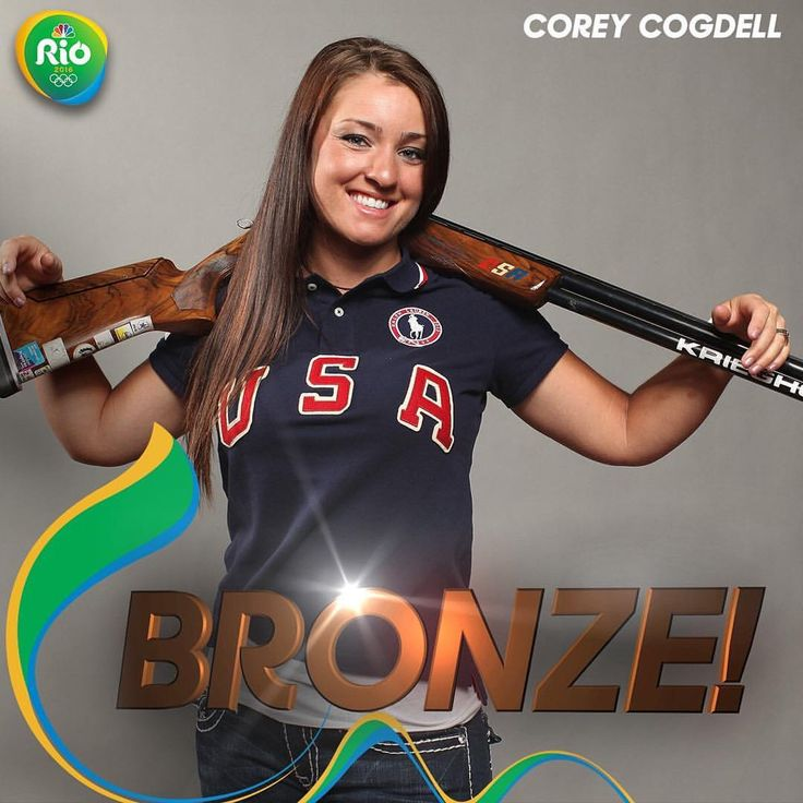 @usashooting's Corey Cogdell WINS BRONZE in women's trap shooting!