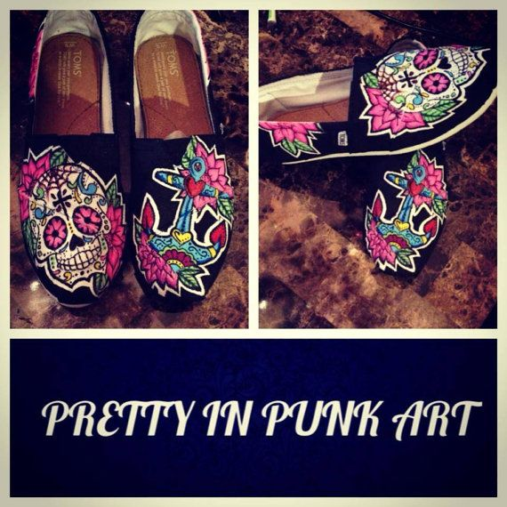 1000+ images about Sugar Skull Toms Shoes on Pinterest