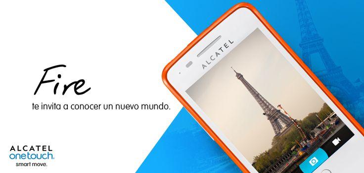 "Una pantalla de 3.5"" HVGA te puede mostrar el mundo que deseas: ALCATEL ONETOUCH FIRE."