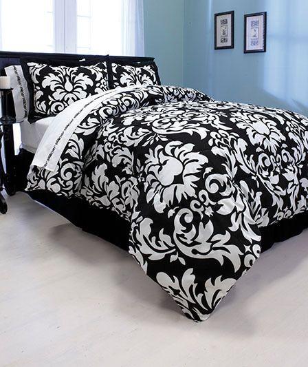black and white damask bedding google search. Interior Design Ideas. Home Design Ideas