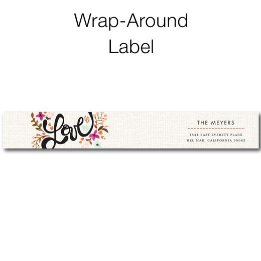 Just Lovely - Personalized Address Labels - Magnolia Press - Blaze - Orange : Front