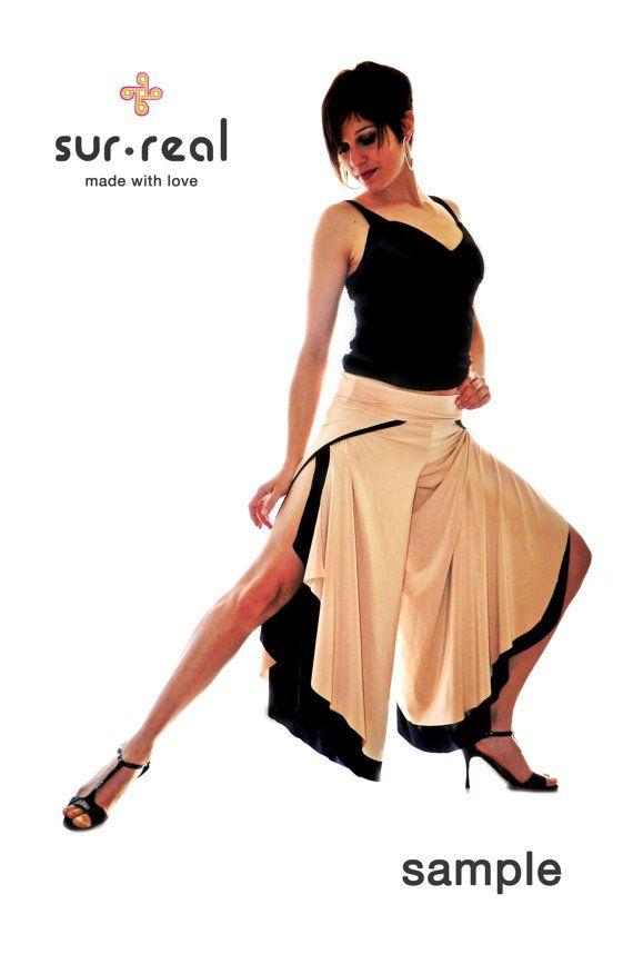 Pollera pantalon Abierta en los Costados por SurRealClothing