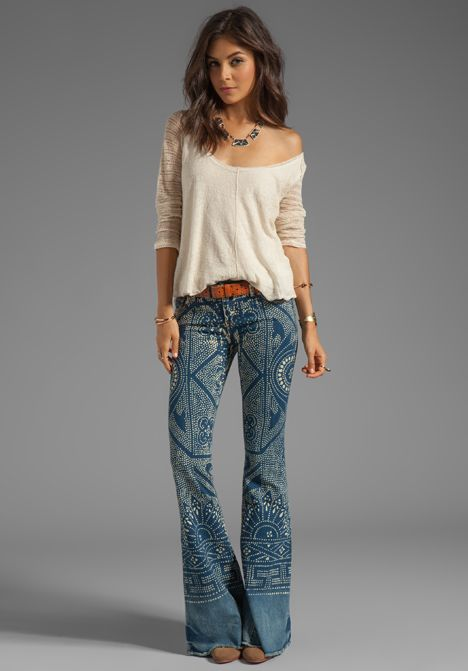FREE PEOPLE Bali Flare Pant in Malaya Wash - New  I absolutely LOVE THIS