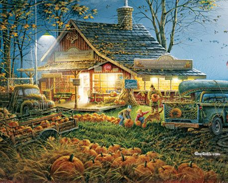 "Autumn Traditions - 1,000 Piece Puzzle -  Finished Size: 24""x30"" - Plus Free Gift Book - Just $15.99!"