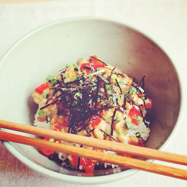 プチトマなっとう丼。 #昼ごはん #ごはん #和食 #tomato and #natto rice bowl for #lunch. #food #rice #japanesefood #instafood #foodpic #homemade from #bangkok #thailand #asianfood - @noriko bkk☆- #webstagram
