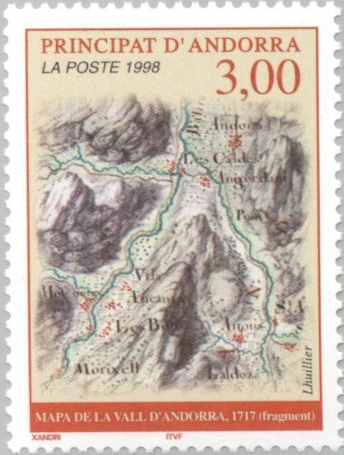 Stamp%3A%20Map%20(Andorra%2C%20French%20Administration)%20(Map)%20Yt%3AAD-FR%20508%2CMi%3AAD-FR%20529%20%23colnect%20%23collection%20%23stamps