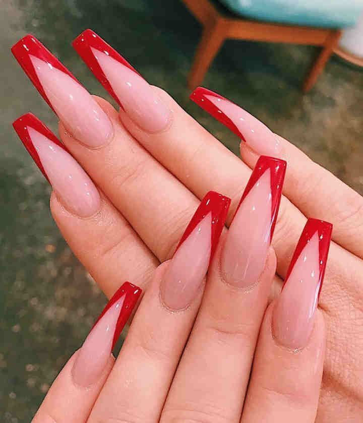 Butterfly Nail Glitter In 2020 Summer Acrylic Nails Cute Acrylic Nail Designs Red Acrylic Nails