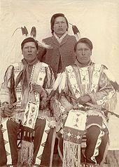 Brothers, (left to right) White Lance, Joseph Horn Cloud, and Dewey Beard (Iron Tail), Wounded Knee Survivors; Minneconjou Lakota