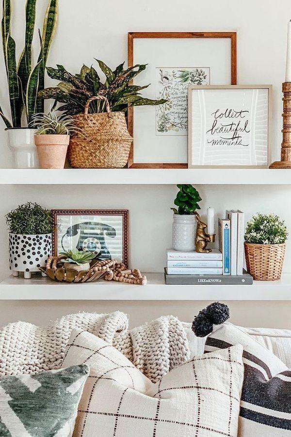 Shelf Living Room Furniture Family Room White Wall In 2020 Wall Decor Living Room Room Wall Decor Home Furnishings #white #wall #decorations #living #room