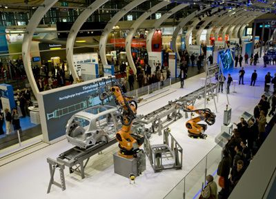 The factory of the future, exhibition by Siemens