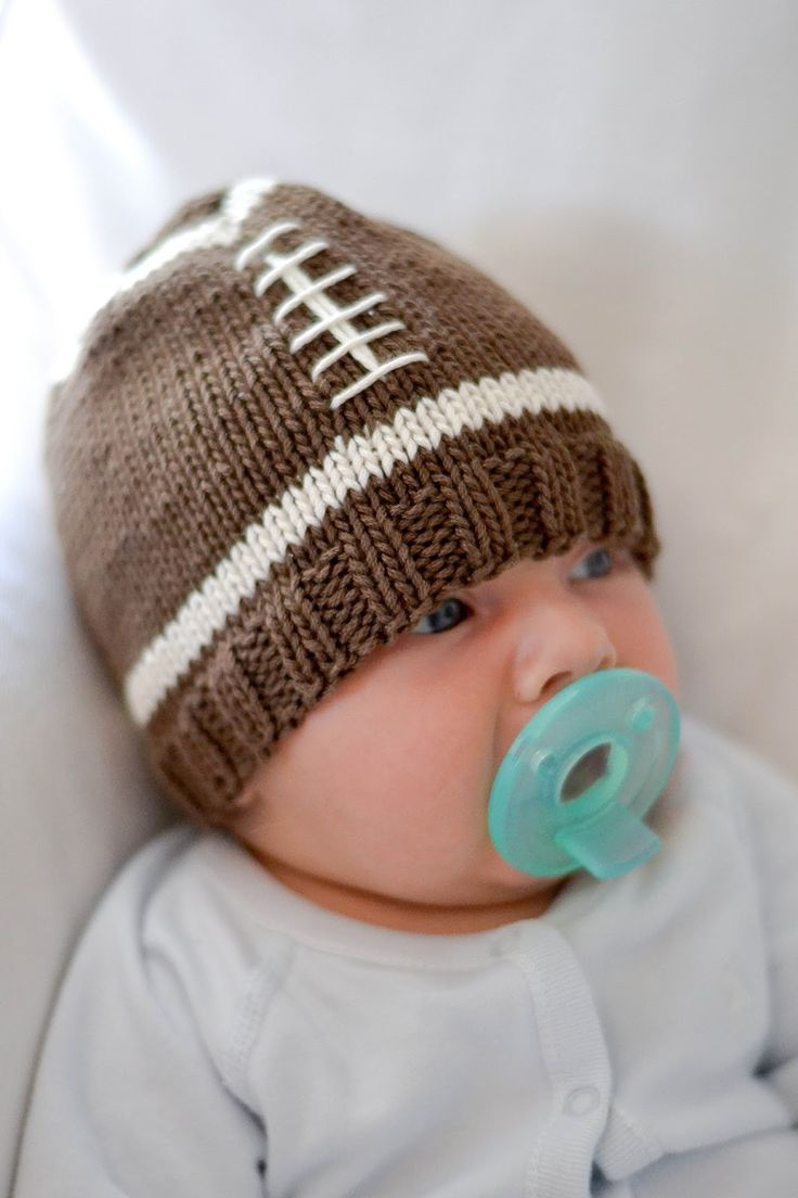 Best 25 knitted baby hats ideas on pinterest knit baby hats cherry street cottage diy football hat bankloansurffo Choice Image