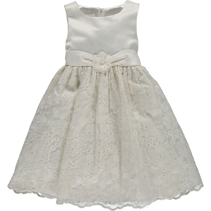 Special occasion white floral lace occasion dress tk for Tk maxx dresses for weddings