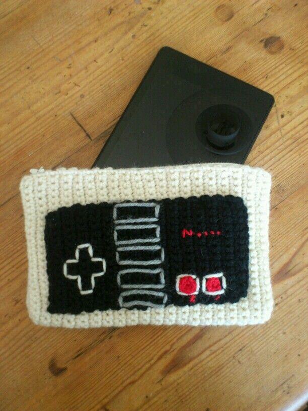 Old school nintendo controller - crochet tablet sleeve - for my sister