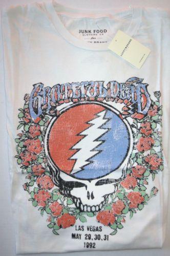 LUCKY-BRAND-Mens-Grateful-Dead-White-Short-Sleeve-Cotton-T-Shirt-X-Large-XL-New