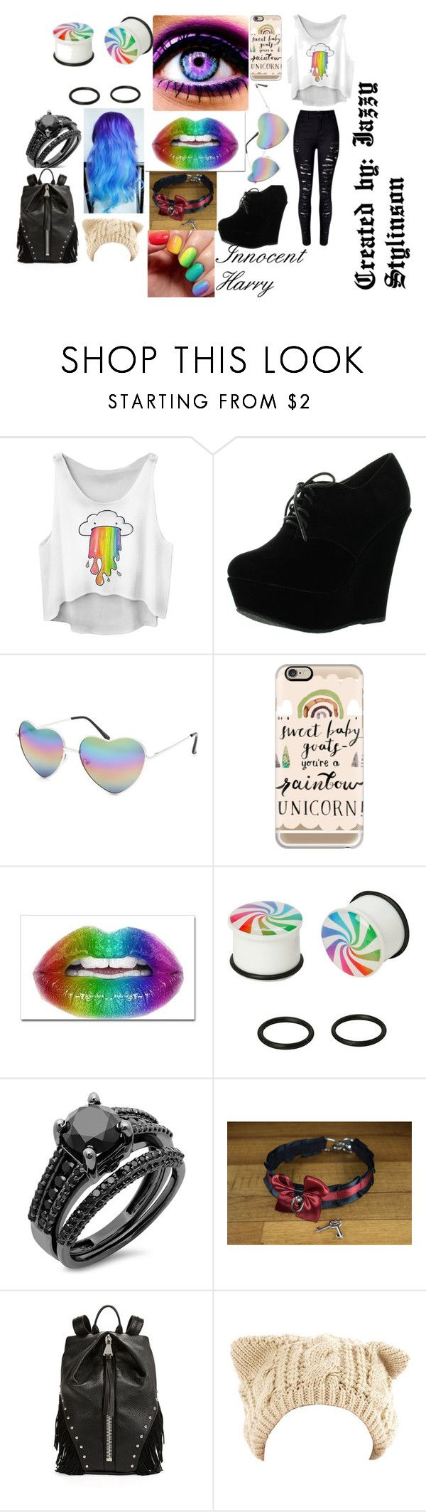 """""""Innocent Fem! Harry"""" by melody-cullen ❤ liked on Polyvore featuring Forever Link, Full Tilt, Casetify, Aimee Kestenberg, women's clothing, women, female, woman, misses and juniors"""