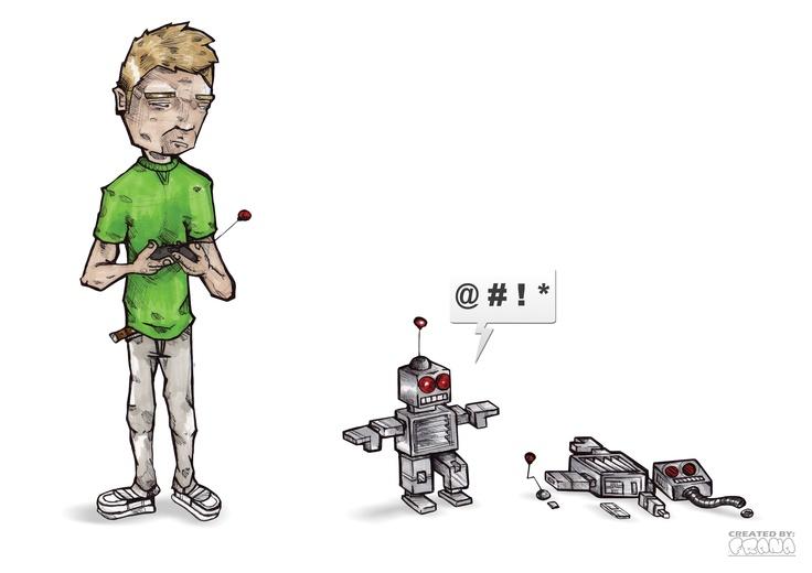 SKETCH 1. (ROBOT'S BATTLE)