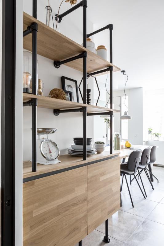 diy wandkast van steigerbuizen inspiratie en ideen klussen diy klussen interieur tips eigen huis en tuin tv cabinet in 2018 pinterest