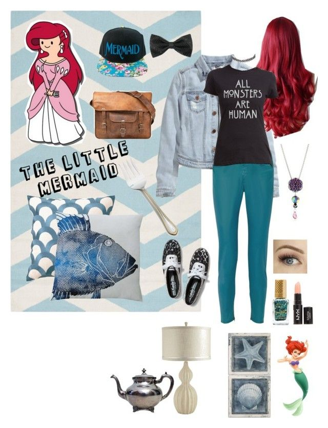 """""""The Little Mermaid #8"""" by brie-the-pixie ❤ liked on Polyvore featuring Disney, Barry M, H&M, STELLA McCARTNEY, Hot Topic, River Island, Tarina Tarantino, Keds, CO and D.L. Rhein"""