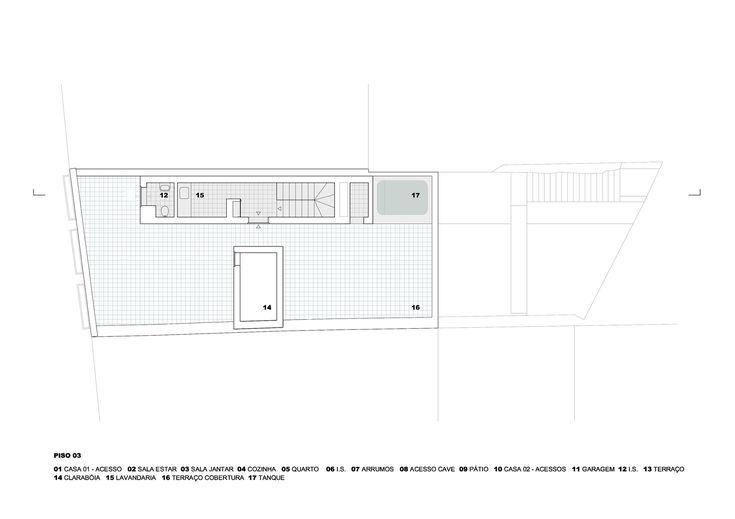 Prazeres House,Third Floor Plan