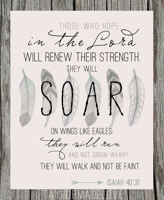 Eagles - Isaiah 40 -  typography print - canvas print - framed print on Etsy, $12.00