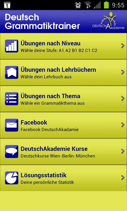Deutsch lernen mit Android