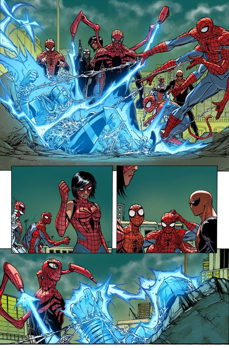 SUPERIOR SPIDER-MAN #33 … SEPTEMBER 17 2014 … CHRISTOS N. GAGE & DAN SLOTT (W) GIUSEPPE CAMUNCOLI (A/C) EDGE OF SPIDER-VERSE • The Superior Spider-Man takes the fight to Karn, the man working his way through the multiverse, leaving a trail of dead spiders in his wake, but finds himself hopefully over-powered. • Can Sup' Spidey find enough allies to make a dent in Karn?