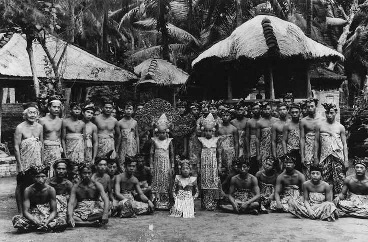 Village gamelan and dancers, Bali, 1961