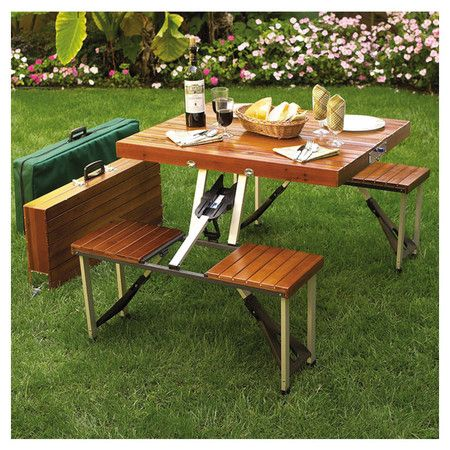 folding folding picnic table portable picnic table wooden picnic ...