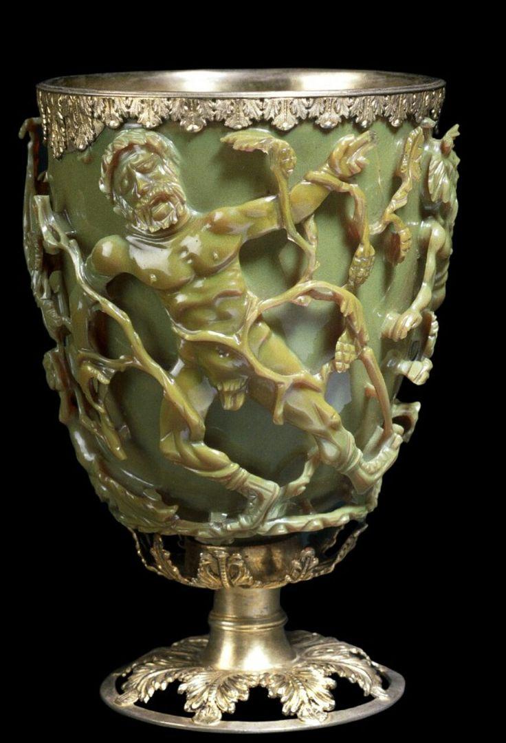 Coppa diatreta di Licurgo. IV sec d.C. British Museum