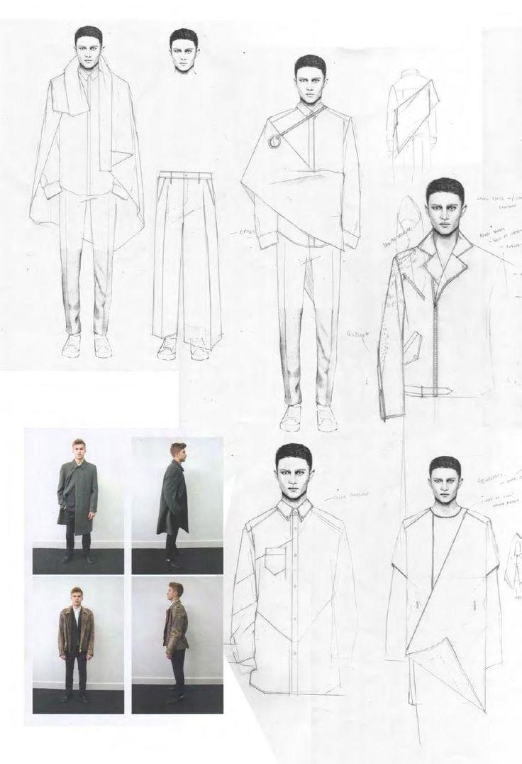 Fashion Sketchbook - fashion design sketches & development; fashion portfolio // Niall Cottrell