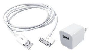 USB Power Adapter and USB Cable for Apple iPhone, iPod by cellphoneshop.net. $0.01