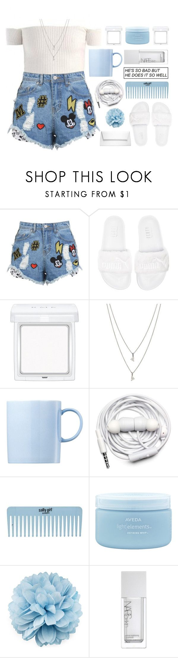 """take it or leave it"" by taraturk ❤ liked on Polyvore featuring Disney Stars Studios, Puma, RMK, Eva Fehren, Rosenthal, Urbanears, Aveda, Gucci, NARS Cosmetics and Michael Kors"